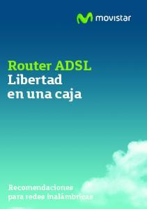 Router ADSL Libertad en una caja