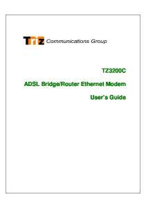 Router Ethernet Modem. User s Guide