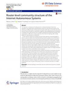 Router-level community structure of the Internet Autonomous Systems
