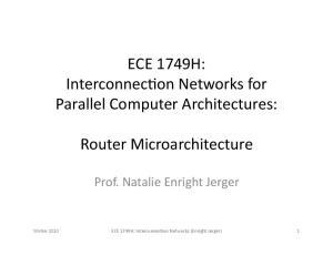 Router Microarchitecture