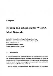 Routing and Scheduling for WiMAX
