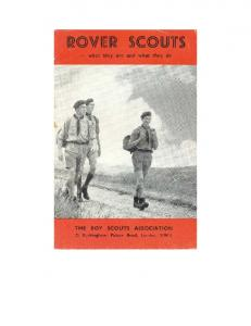 ROVER SCOUTS. What they are and what they do. Page Part I WHAT THEY ARE Part II WHAT THEY DO