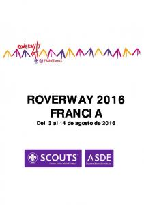ROVERWAY 2016 FRANCIA