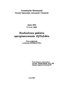 Rozbudowa pakietu oprogramowania DjVuLibre