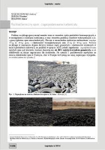Rozkład termiczny opon - zagospodarowanie karbonizatu