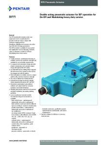 RPD Pneumatic Actuator