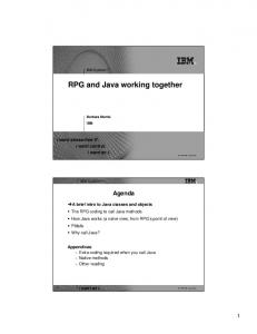 RPG and Java working together