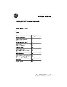 RS-232C Interface Module