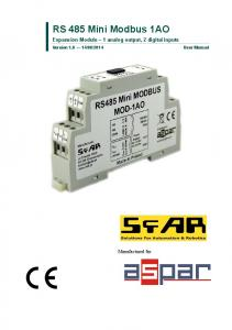 RS 485 Mini Modbus 1AO