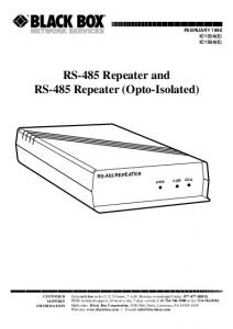 RS-485 Repeater and RS-485 Repeater (Opto-Isolated)