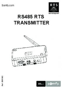 RS485 RTS TRANSMITTER