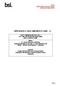 RSPO SURVEILLANCE ASSESSMENT (ASA - 1)