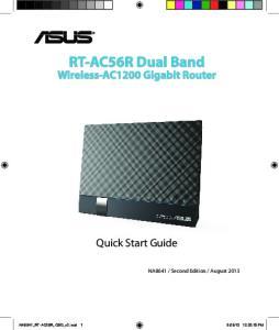 RT-AC56R Dual Band Wireless-AC1200 Gigabit Router