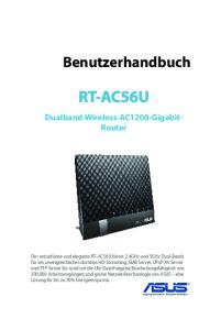 RT-AC56U. Benutzerhandbuch. Dualband-Wireless-AC1200-Gigabit- Router