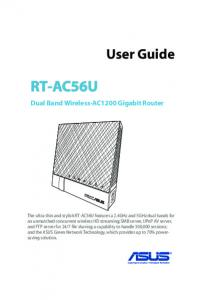 RT-AC56U. User Guide. Dual Band Wireless-AC1200 Gigabit Router