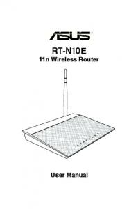RT-N10E 11n Wireless Router