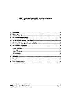 RTC general-purpose library module