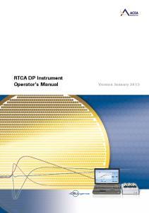 RTCA DP Instrument Operator s Manual Version January 2013