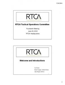 RTCA Tactical Operations Committee