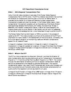 RTP PowerPoint Presentation Script