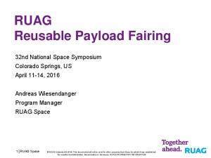 RUAG Reusable Payload Fairing
