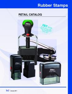 Rubber Stamps. Retail Catalog
