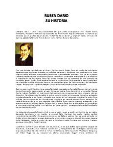 RUBEN DARIO SU HISTORIA