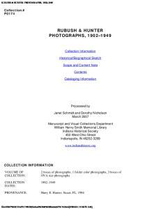 RUBUSH & HUNTER PHOTOGRAPHS,