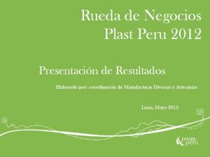 Rueda de Negocios Plast Peru 2012