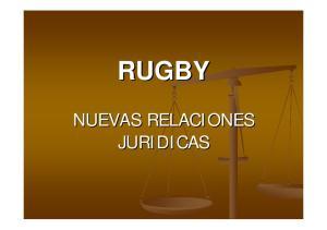 RUGBY NUEVAS RELACIONES JURIDICAS