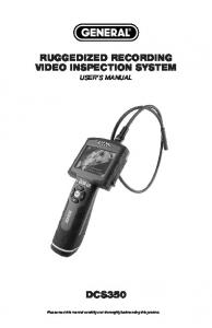 RUGGEDIZED RECORDING VIDEO INSPECTION SYSTEM USER S MANUAL