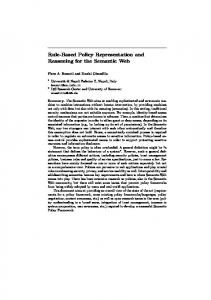 Rule-Based Policy Representation and Reasoning for the Semantic Web
