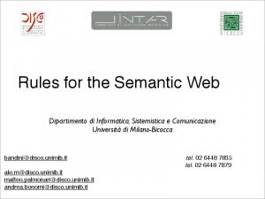 Rules for the Semantic Web