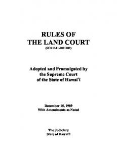 RULES OF THE LAND COURT