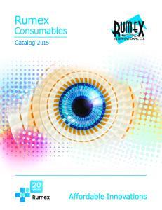 Rumex. Consumables. Catalog 2015
