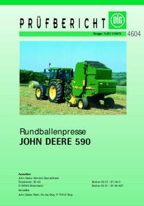 Rundballenpresse JOHN DEERE 590