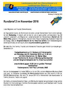 Rundbrief 2 im November 2016