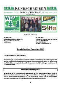 Rundschreiben Dezember 2013