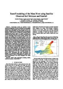 Runoff modeling of the Mara River using Satellite Observed Soil Moisture and Rainfall