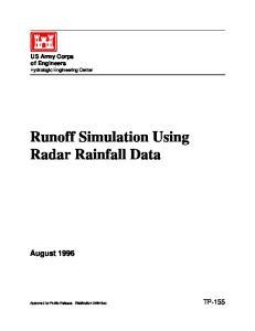 Runoff Simulation Using Radar Rainfall Data