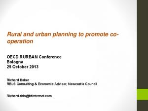 Rural and urban planning to promote cooperation