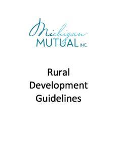 Rural Development Guidelines