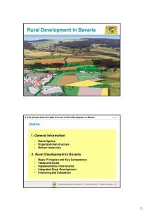 Rural Development in Bavaria