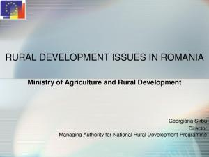 RURAL DEVELOPMENT ISSUES IN ROMANIA