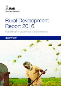 Rural Development Report 2016