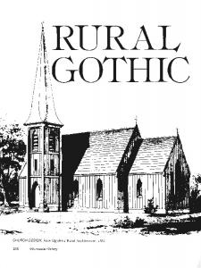 RURAL GOTHIC. ^^.-^a^^r^.. ^. CHURCH DESIGN, from Upjohn's Rural Architecture, Minnesota History