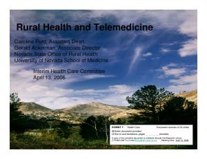 Rural Health and Telemedicine