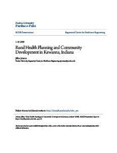 Rural Health Planning and Community Development in Kewanna, Indiana