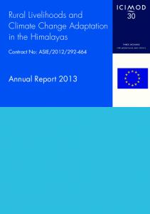 Rural Livelihoods and Climate Change Adaptation in the Himalayas