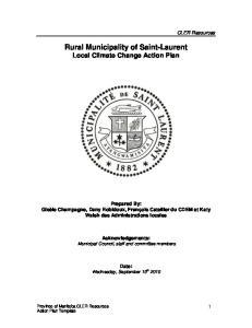 Rural Municipality of Saint-Laurent Local Climate Change Action Plan